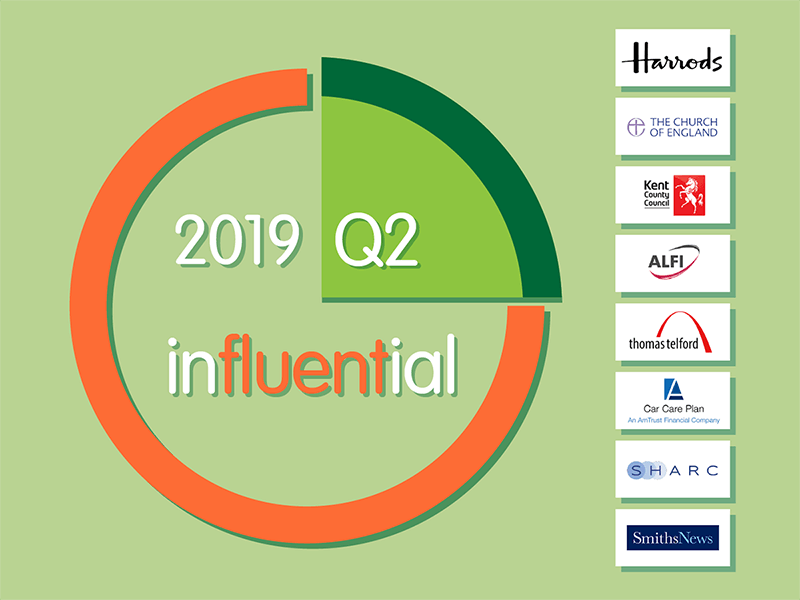 Influential Software new clients Q2 2019