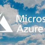 Microsoft Azure logo, in clouds - to highlight a post about migrating to the Microsoft Azure cloud platform