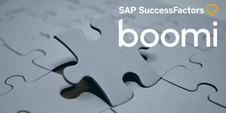 Optimising Boomi SuccessFactors integration, represented by SuccessFactors logo on jigsaw puzzle.