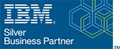 IBM Silver Business Partner logo, official UK partners Influential Software Services Ltd
