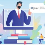 Jamf Pro remote courses represented by online learning graphic