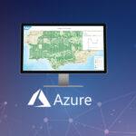 Azure logo with SAP HANA dashboard, representing SAP HANA integration with Azure Logic Apps
