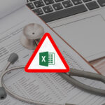 Warning triangle and Excel logo representing went wrong in the NHS Test and Trace Excel error