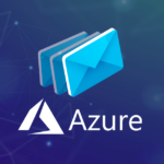 The Azure logo with an email graphic representing making Azure receive email attachments