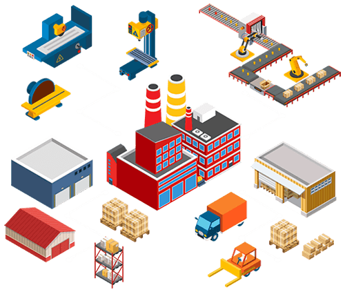 Integrated factory representing SharePoint implementation for manufacturing