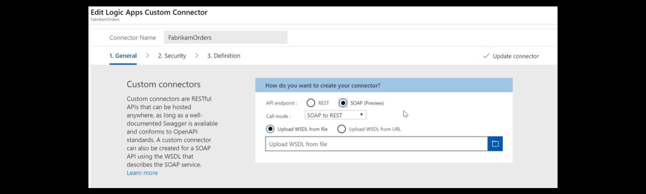 Uploading a WSDL file for SOAP API integration