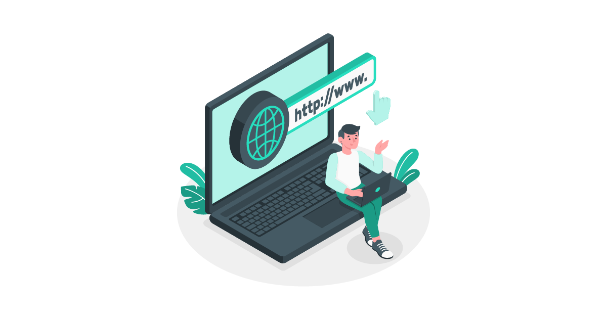 Graphic showing someone logging into the internet representing staff intranet