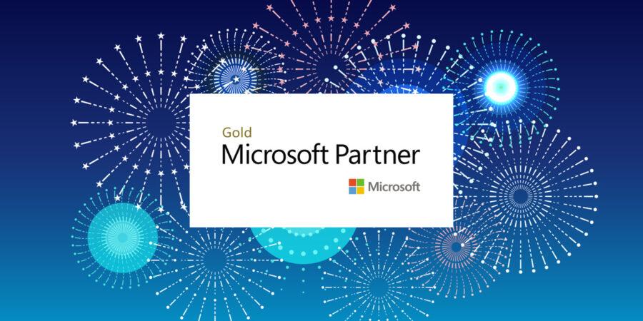 Microsoft badge representing Microsoft Gold Partner certification