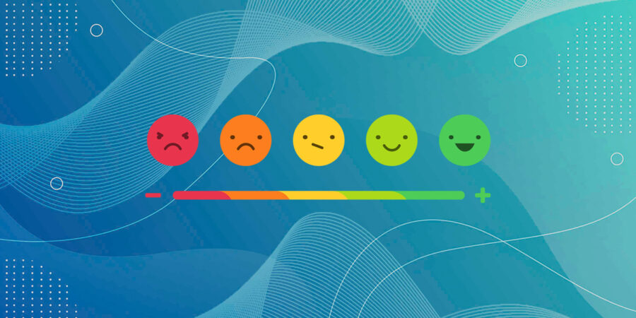 Intranet issues represented by user feedback emojis