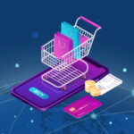 Tech illustration showing an Azure ecommerce platform