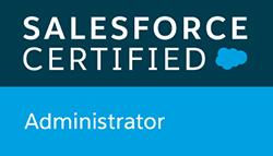 Salesforce Certified Administrator badge