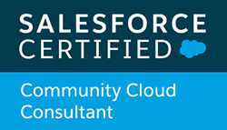 Salesforce Certified Community Cloud Consultant badge