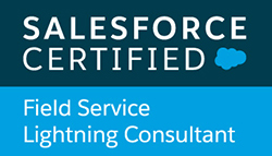 Salesforce Certified Field Service Lightning Consultant badge