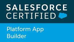 Salesforce Certified Platform App Builder badge