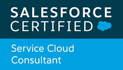 Salesforce Certified Service Cloud Consultant badge