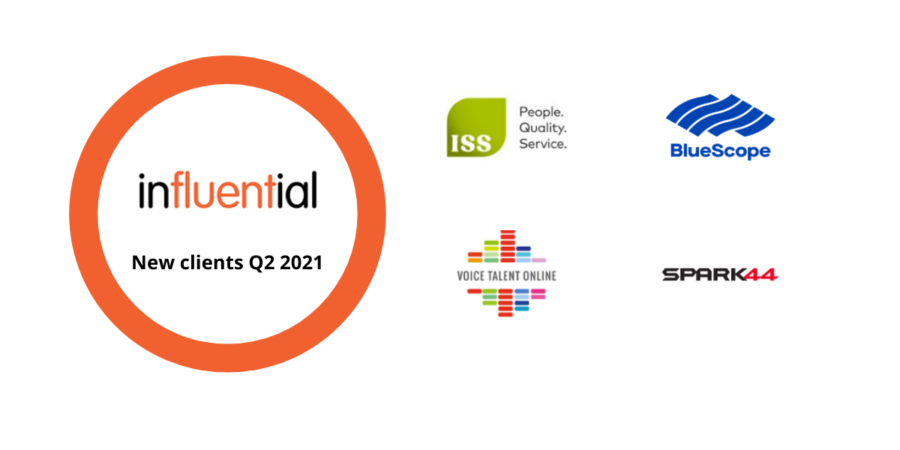 Our new Influential Software clients in Q2 2021