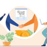 A picture of two men shaking hands with the microsoft gold partner logo.