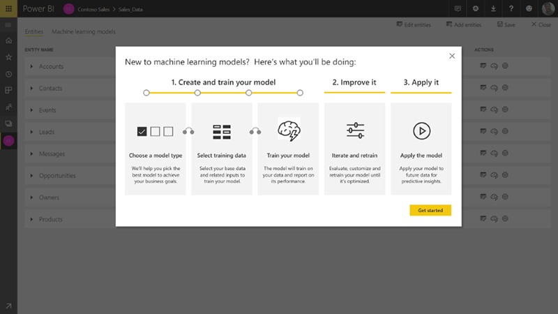 Power BI has new machine learning models features