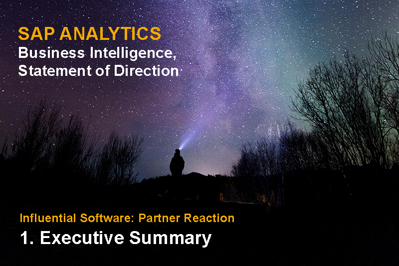 SAP Analytics Business Intelligence Statement of Direction published - Executive Summary and response by UK Partner Influential Software. Original Photo by egil sjøholt from Pexels Copy