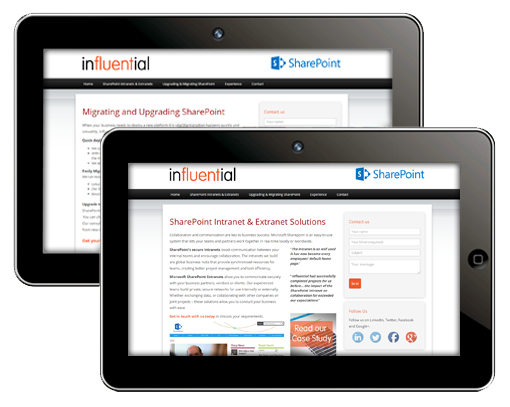 SharePoint-Influential Website Launched