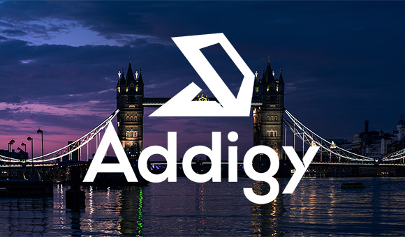 Addigy logo over Tower Bridge, representing Addigy training in the UK
