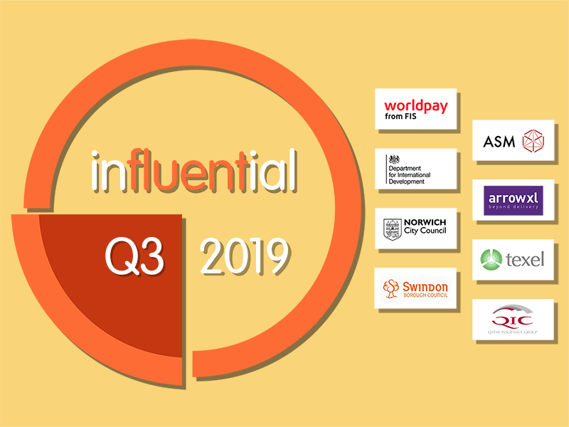 Influential Software Q3 2019 review and new clients.