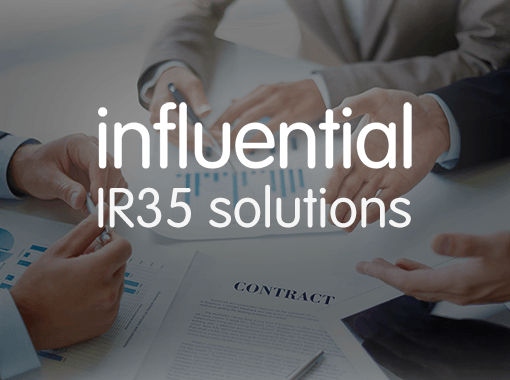 IR35 consultancy solutions for IT contractors represented by Influential Logo over contract negotiations