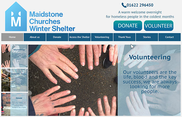 Bake-off 2019 - raising money for Maidstone Churches Windter Shelter - Website Screenhot