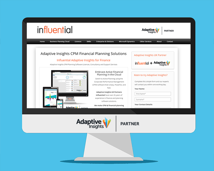 New Adaptive Insights website launched | UK Partners Influential